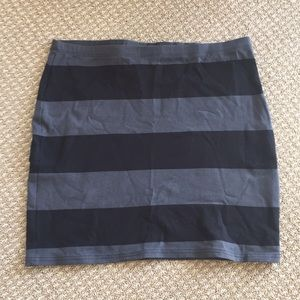 Black and gray striped H&M mini skirt